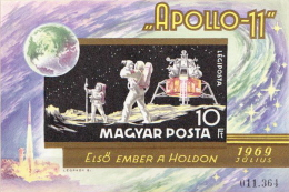 Hungary MH Imperforated SS - Space