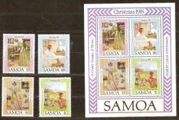 Samoa 1985 Yvertn° 593-96 Et Bloc 37 *** MNH Cote 9,10 Euro Noël Christmas Kerstmis - Samoa