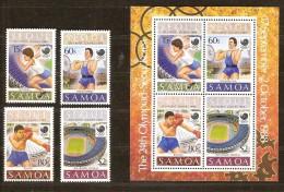 Samoa 1988 Yvertn° 668-71 Et Bloc 44 *** MNH Cote 11,50 Euro Sport Séoul - Samoa