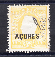 PORTUGAL.AÇORES 1879 D. LUIS  I . AFINSA Nº 31  150 REIS AMARELO  .USADO  SES490 - Azores