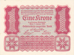 Autriche-Hongrie - Österreich-Ungarn - Eine Krone - One Side Print - Impression Une Face (UNC, FDC, Perfect) - Autriche