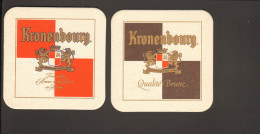 Bierdeckel Kronenbourg  R: Kronenbourg Qualité Brune - Bierdeckel