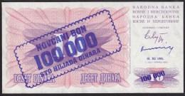 Bosnia & Herzegovina 100000 Dinara 10.11.1993 P34b UNC - Bosnia Erzegovina