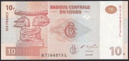 Congo 10 Francs 2003 P93 UNC - Zonder Classificatie