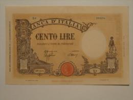 100 Lire D.M. 9-12-1942  Fascio  - Conservazione Come Da Foto (visto E Piaciuto) - [ 1] …-1946 : Kingdom