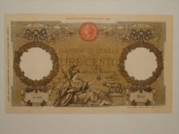 100 Lire Aquila Romana  D.M. 21-12-1933 Conservazione Come Da Foto (visto E Piaciuto) - [ 1] …-1946 : Royaume