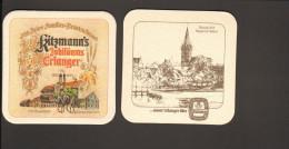 Bierdeckel Brauerei Kitzmann Erlangen  Kitzmann's Jubiläums Erlanger R: Bruck Mit Regnitz-Wehr - Sous-bocks