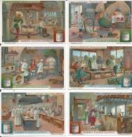 Tradecard KK000001 - Liebig's Fleisch-Extract (Küche Und Kochkunst) 10.8 X 7.3 Cm Litographie (6 Cards Set) - Trade Cards