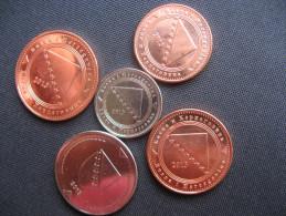 Coins 5,10,20,50 Feninga, 1 Konvertibilna Marka - Bosnia And Hercegovina 2013. Unc - Bosnië En Herzegovina