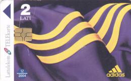 LATVIA  Phonecard With Chip  Adidas 12/2004 - Latvia