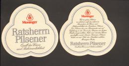 "Bierdeckel Moninger Ratsherren Pilsener  R: Moninger ""Wer Ein Gutes Pilsener ..."" - Sous-bocks"