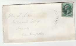 1880s USA  Stamps COVER  To Dartmouth College United States Univerity - Briefe U. Dokumente