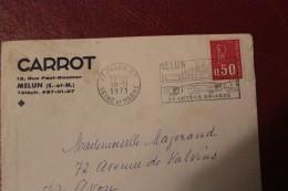 LETTRE DEPART  MEULUN ETABLISSEMENT CARROT  1971 VERS AVON - 1961-....