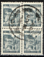 BANGLADESH - 1983 - POSTINO CHE CONSEGNA UN ALETTERA - IN QUARTINA - USATI - Bangladesh