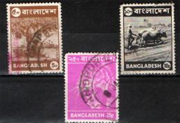 BANGLADESH - 1976 - FRUTTO TROPICALE - ARATURA - TIGRE - USATI - Bangladesh
