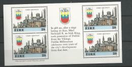 1988 MNH Booklet Pane English ,  Eire, Ireland, Irland, Postfris - 1949-... République D'Irlande