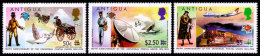 Antigua, 1974, Centenary Of The UPU, United Nations, MNH Overprinted Revalued, Michel 355-357 - UPU (Union Postale Universelle)