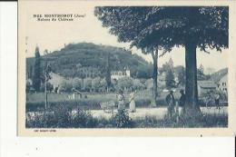 Montmorot  39    Vue Sur Les Ruines Du Chateau Et Route Bien Animée - France
