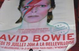 POSTER DAVID BOWIE 60/43CM SOIREE SPECIALE A PARIS SCARCE TRES RARE - Affiches & Posters