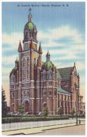 ST. FRANCIS XAVIER CHURCH - NASHUA, NEW HAMPSHIRE, USA (Unused Old Linen Postcard) - Nashua