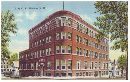 YOUNG MEN'S CHRISTIAN ASSOCIATION BUILDING - NASHUA, NEW HAMPSHIRE, USA (Unused Old Linen Postcard) - Nashua