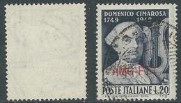 1949 TRIESTE A USATO CIMAROSA FILIGRANA LETTERA - L3 - Usati