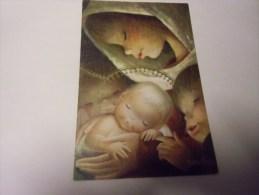 ENFANTS Lot De 2 Cartes ' Jeune Fille Avec Bébé  (signée Juan Ferrandiz )cartes Double - Children's Drawings