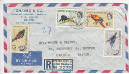 Registred Letter From BELIZE 6/5/1964 To Paris (France) - British Honduras (...-1970)
