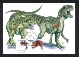 Issue1 ONLY- MAXIMUM CARDS DINOSAUR Faune PORTUGAL 2015 PRE HISTORY ANIMALS Préhistoriques DINOSAURS Mc245 - Stamps