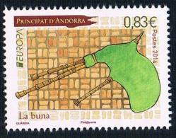 French Andorra 2014 1 New Instruments Europa 1011 - Frans-Andorra