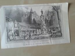 De Visch Markt Te Antwerpen - Lithographies