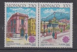 1990-MONACO.N°1724a/1725A** EUROPA ISSU DU BLOC - Neufs