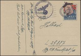 Propaganda-Postkarte Wert Keinen Pfennig FELDPOST 25989 Tarn-Stempel 31.4.41 - Occupation 1938-45