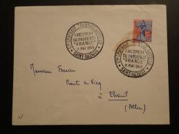 Obliteration Sur Lettre Postmark On Cover Lancement Du Paquebot France Saint Nazaire 1960 - Ships