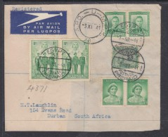 1941:  Australia, New Zealand, Egypt Stamps, 1941 Fragment Of  Cover > S.Africa  EGYPT 53  + APO-U-MPK 28 C.d.s. - Covers & Documents
