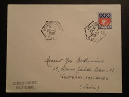 Lettre Cachet Hexagonal Villacoublay Air 1965 - Poststempel (Briefe)