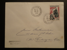 Lettre Cachet Oblitération Strasbourg RP Annexe Mobile N°1 1965 - Postmark Collection (Covers)
