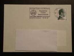 Flamme Sur Lettre Postmark On Cover Expo Canine Internationale Monaco 2007 - Poststempel