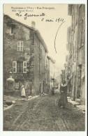 Cpa, MONTFERRAT , Rue Principale  , Animé  - 1911 - France