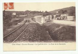 Cpa, SAINTE MAXIME , La Corniche D'or , Le Pont De La Garonette    , Animé  - 1912 - Sainte-Maxime