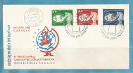 1 FDC  BRIEF / LETTRE 1962 NEDERLANDSE ANTILLEN //  O //   ZIE / VOIR SCAN ........... ENV41