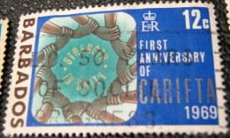 Barbados 1969 The 1st Anniversary Of CARIFTA 12c - Used - Barbados (1966-...)