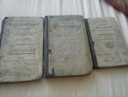3 Livres Scolaires Anciens - 1801-1900