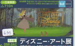 Carte Prépayée Japon (639) DISNEY JAPAN * PREPAID CARD * CINEMA *  FILM * MOVIE * - Disney