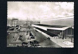 ROMA - Stazione Termini - Edit E.VERDISI -  Autos - CPSM REDTO VERSO - Transports