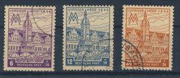 SBZ West Sachsen Nr. 162 - 164 A Z gestempelt used