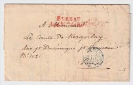 "Frankreich, 1837, Paris, "" Postamt Des Königs "" , #3239 - Marcofilia (sobres)"