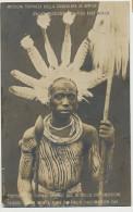 Mombasa BEA Stamped Uganda Akikuyu Young Men's Garb On Their Circumcision Day Feather Tattoo Tatouage - Kenya