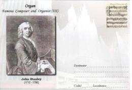 Enveloppe Illustrée ORGUE ORGAN ORGEL ORGANO : John STANLEY (1712-1786) Organist Composer - Music