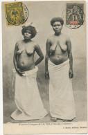 La Foa Femmes Canaques Seins Nus Timbrée 2 Timbres Edit J. Rache - Nouvelle-Calédonie
